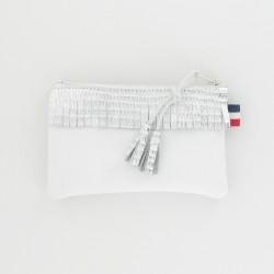 Porte-monnaie en cuir - Blanc