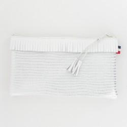 Coffret de Noel - pochette et porte-clés - Blanc