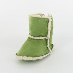 Chausson bébé botte fourré - Vert