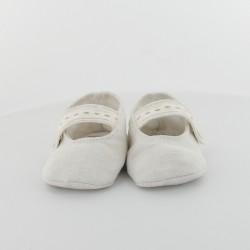 Chausson bébé ballerine lin et chanvre - Capeline