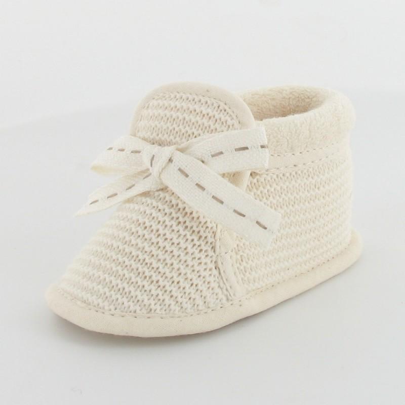 plus récent 979e9 95b08 Chausson bébé mixte en tricot - Tricotin: Fabrication française