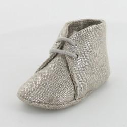 Chausson bébé argenté - Platine