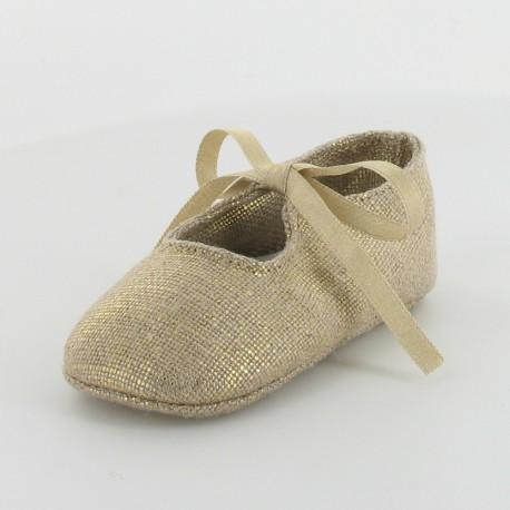 Chausson bébé doré - Lingot