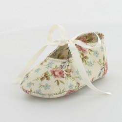 Chausson bébé ballerine fleurie- Romance