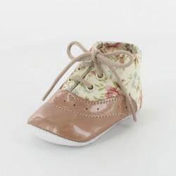 Chausson bébé fleurie - Romantique