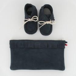 Coffret chausson, pochette - Marine