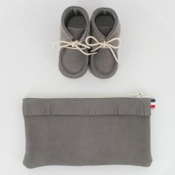 Coffret chausson, pochette - Gris
