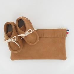 Coffret chausson, pochette - Camel