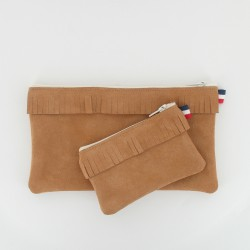 Coffret pochette et porte monnaie - Camel