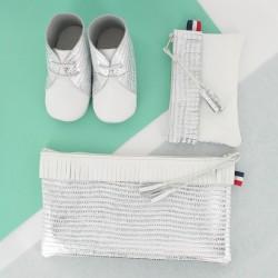 Coffret chausson, pochette et porte monnaie - Blanc