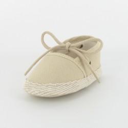 Chausson bébé espadrille - beige