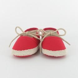 Chausson bébé espadrille - rouge