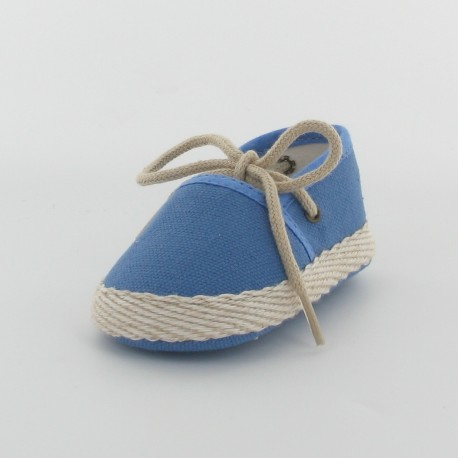 Chausson bébé espadrille - bleu