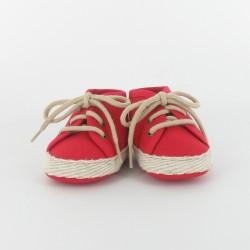 Chausson bébé tennis - fuchsia