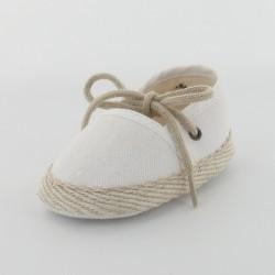 Chausson bébé espadrille - Blanc