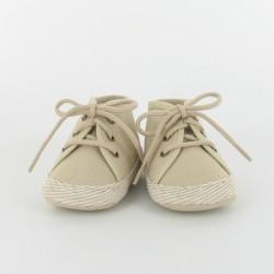 Chausson bébé tennis - beige