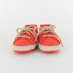 Chausson bébé tennis - orange