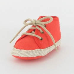 Chausson bébé tennis - orange